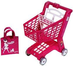 Пазарска количка и чантичка - Barbie - кукла