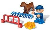 Полицай с куче - Детски конструктор - играчка
