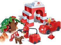 Пожарна команда - Детски конструктор - несесер