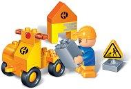 Строител с кола - Детски конструктор - хартиен модел