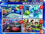 Анимационни герои на Pixar - Четири пъзела - пъзел