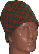 Зимна плетена шапка - Chequer