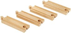Прави релси за влак - Дървена играчка за разширение на релсов път -