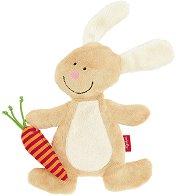 Зайче с морков - Плюшена играчка -