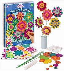 Моят първи букет - Творчески комплект за създаване на хартиени цветя - играчка