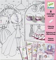 Оцвети принцесата - Творчески комплект със скрити елементи - творчески комплект