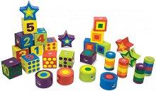 Шарени дървени мъниста за нанизване - Детска дървена играчка - играчка