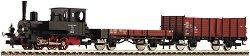 Влак с парен локомотив - Аналогов стартов комплект с релси и дистанционно управление -
