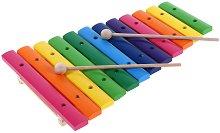 Ксилофон - Детски музикален инструмент от дърво - кукла