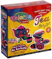 Декорирай сама сервиз за чай - Творчески комплект - играчка