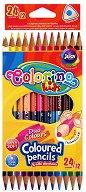 Тристенни двувърхи цветни моливи - Комплект от 24 цвята