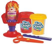 """Фризьорски салон - Комплект с пластилин от серията """"Fun Dough"""" -"""