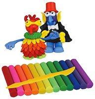 """Забавни фигури - Творчески комплект с пластилин от серията """"Fun Dough"""" - количка"""