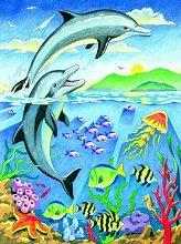 Нарисувай сам - Делфини - Творчески комплект за рисуване с моливи - продукт
