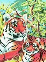 Нарисувай сам - Тигри - Творчески комплект за рисуване с моливи - топка