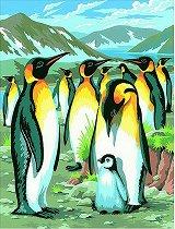 Нарисувай сам шедьовър - Пингвини - Творчески комплект - творчески комплект