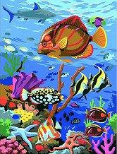 Нарисувай сам шедьовър - Риби - Творчески комплект - продукт