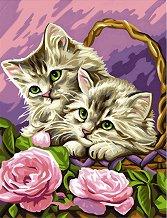 Нарисувай сам шедьовър - Котенца в кошница - Творчески комплект - продукт