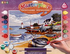 Нарисувай сам шедьовър - Рибарско селище - Творчески комплект - играчка