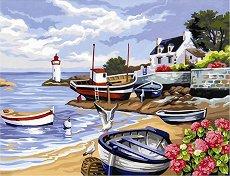 Нарисувай сам шедьовър - Рибарско селище - играчка