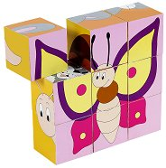 Дървени кубчета - Животни - Образователна играчка - играчка