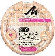 "Manhattan Clearface 2 in 1 Powder & Make Up - Пудра и фон дьо тен 2 в 1 от серията ""Clearface"" - продукт"