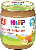 Пюре от био кайсии и био банани - Бурканче от 125 g за бебета над 4 месеца - чаша