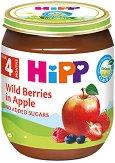 HiPP - Био пюре от горски плодове с ябълка - Бурканче от 125 g за бебета над 4 месеца - продукт