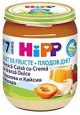 HiPP - Плодов дует от био праскова и кайсия с извара - Бурканче от 160 g за бебета над 7 месеца - продукт