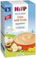 HiPP - Инстантна пребиотик млечна каша с царевица и плодове - Опаковка от 250 g за бебета над 6 месеца -