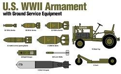 Боеприпаси и наземно оборудване от Втората Световна война - Комплект сглобяеми модели -