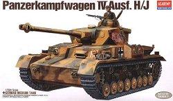 Немски танк - Panzerkampfwagen IV Ausf. H/J - Сглобяем модел - макет