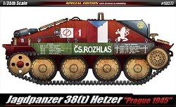 "Танк - Jagdpanzer 38(t) Hetzer ""Prague 1945"" - макет"