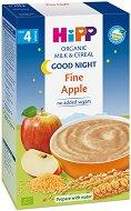 """Инстантна био млечна каша """"Лека нощ"""" - Мека ябълка - Опаковка от 250 g за бебета над 4 месеца -"""