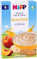 HIPP - Био инстантна млечна каша с банан и праскова - продукт