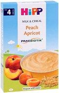 HIPP - Инстантна пробиотик млечна каша с праскова и кайсия - продукт