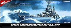 Военен кораб - USS Indianapolis CA-35 - Сглобяем модел -