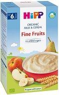 HiPP - Инстантна био млечна каша с меки плодове -