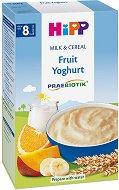 Инстантна пробиотик млечна каша - Плодове с йогурт - Опаковка от 250 g за бебета над 8 месеца - биберон