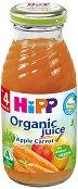 Сок от био ябълки и моркови - Шише от 200 ml за бебета над 4 месеца -