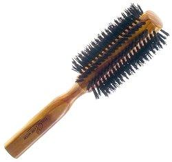 Кръгла четка за коса - От маслиново дърво и естествен косъм - сапун