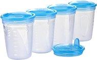 Контейнери за съхранение на кърма - 200 ml - Комплект от 4 броя с капачки и твърд накрайник за пиене - продукт