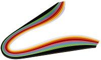 Квилинг ленти - Ярки цветове - Комплект от 200 броя с плътност 90 g/m : 2 :