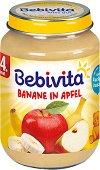 Bebivita - Пюре от ябълка и банан - Бурканче от 190 g за бебета над 4 месеца -