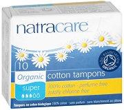Natracare Cotton Tampons Super - Дамски тампони от био памук без апликатор в опаковки от 10 ÷ 20 броя -