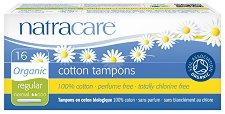 Natracare Cotton Tampons Regular - Дамски тампони от био памук с апликатор в опаковка от 16 броя -