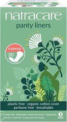 Natracare Panty Liners Curved - Ежедневни дамски превръзки в опаковка от 30 броя -