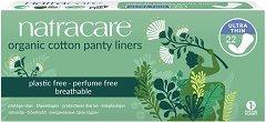 Natracare Cotton Panty Liners Ultra Thin - Ежедневни дамски превръзки в опаковка от 22 броя - душ гел