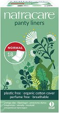 Natracare Cotton Panty Liners Normal - Ежедневни дамски превръзки в опаковка от 18 броя - крем
