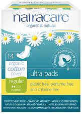 Natracare Ultra Pads Regular - Дамски превръзки с крилца в опаковка от 14 броя - молив